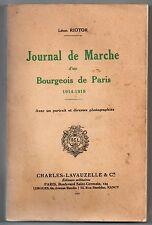 GUERRE 14/18 LEON RIOTOR JOURNAL DE MARCHE 1914-1919 5e S.M.A. 59e R.A. 1934