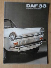 DAF 33 SALOON orig 1969 German Mkt Sales Brochure Prospekt