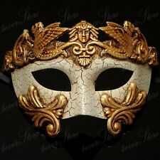 Men Egyptian Greek Venetian Masquerade Mask - Roman Warrior Venetian - Gold