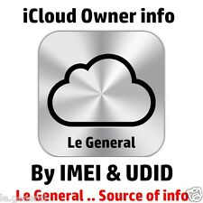 Find Apple ID, iCloud ID info By UDID + IMEI  .. 24 to 48 hours with Warranty
