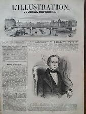 L' ILLUSTRATION 1846 N 190  PORTRAIT DE M.URBAIN LEVERRIER, ASTRONOMIE.