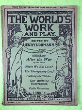 THE WORLD'S WORK & PLAY - Edwardian Shilling Monthly - Oct. 1905 - Henry Norman