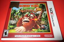 Donkey Kong Country Returns Nintendo 3DS  Factory Sealed! One Day Ship!