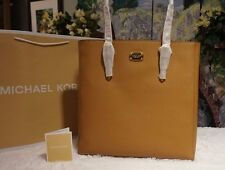 NWT MICHAEL KORS Jet Set TRAVEL LARGE NORTH/SOUTH TOTE BAG ACORN Leather $248