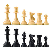 Staunton Quality Club Chess Pieces – Set of 34 Black & White - 4 Queens  + Board