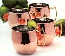 Set of 4 Mikasa Solid Copper Moscow Mule Mugs Cup | 473ml | Brand New