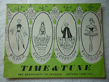 TIME & TUNE AUTUMN TERM 1957 BBC SCHOOLS (RHYTHM AND MELODY) SHEILA WHITBY
