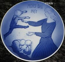 1981 ROYAL COPENHAGEN MUTTERTAGSTELLER  MOTHER'S DAY TOP 1. WAHL