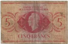 French Equatorial Africa - 1944, 5 Francs  !!No serial Number!!