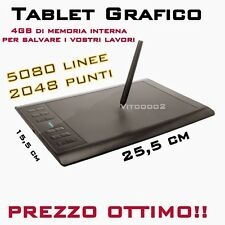 Tavoletta Grafica Digitale 5080 LPI 2048 Livelli Tablet Grafico Professionale