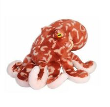 "NEW PLUSH WILD REPUBLIC 12"" PACIFIC RED OCTOPUS CUDDLY SOFT TOY TEDDY"