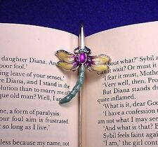 Dragonfly ~ With Rinestone Eyes ~ Metal Book Marker
