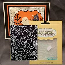 TANGLED WEBS embossing folder TEEF07 Taylored Expressions folders Halloween web