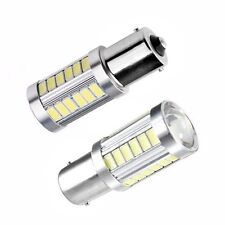 2PCS BAY15D 1157 White Car Tail Stop Brake Light Super Bright 33SMD LED Bulb 12V