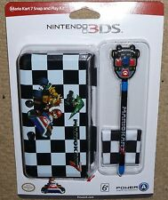 NINTENDO 3DS OFFICIAL PROTECTIVE CONSOLE CLIPON CASE COVER STYLUS NEW Mario Kart