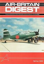 AIR-BRITAIN DIGEST #1 93: CANADA TRIP/ OSHKOSH 92/ BRIDEWELL MUSEUM/ 'TORA' FILM
