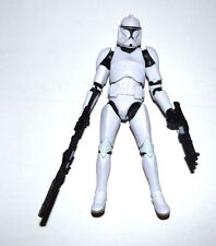 "Star Wars Republic Clone Trooper Black White 6"" Loose Action Figure"