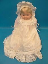 """1998 Cititoy GF16 BS192 China Rubber Talking """"Mama"""" Baby Girl Doll White Clothes"""