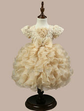 Flower Girl Baby Kids Lace Wedding Formal Bridesmaid Party Prom Princess Dress