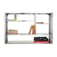 Shelving Rack Wall Cabinet Stainless Steel 76X107 CM
