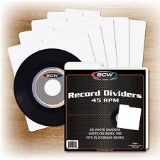 100 NEW 45 RPM Record Dividers Wide Index Tab for 7 Inch Record Storage Boxes