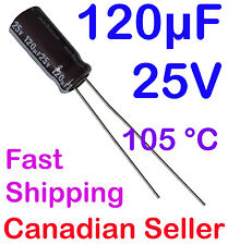 120uF 25V 6.3x15mm 105C Nichicon PW Low impedance For PC TV PS LCD LED TFT