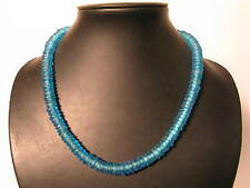 Pulverglasperlen 11mm ozeanblau ocean Spacer Ghana Recycling Glass Bead Afrozip