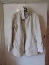 Cream Wool Blend Thigh Length New Look Coat / Jacket in Size 16
