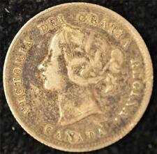 1898 F-VF Canadian Five Cents Silver #2