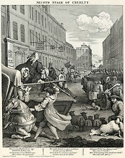 Hogarth Print Reproductions: The Second Stage of Cruelty: Fine Art Print