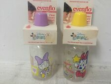 New Vintage Evenflo Baby Bottles 4 Ounce Disney Babies w/Silicone Nipples