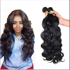 "3 Bundles 8"" Brazilian Virgin Body Wave Weave 100% Human Hair Wefts 150g total"