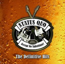 STATUS QUO ACCEPT NO SUBSTITUTE DEFINITIVE HITS 3CD ALBUM (November 20th 2015)