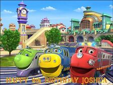 "PARTY PACK - CHUGGINGTON  PERSONALIZED 10 x 7.5"" ICING CAKE TOPPER"