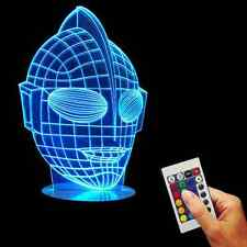 Color Changing 3D USB Ultraman Visual Acrylic Lamp LED  Desk Bulbing Night Light