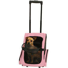 OxGord Pet Carrier Dog Cat Rolling BackPack Travel Airline Wheel Luggage Bag PK