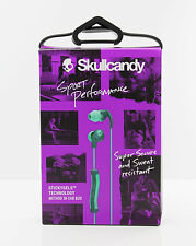 Skullcandy Method In-Ear Buds Sport Headphones w/Mic Remote Teal/Green Open Box