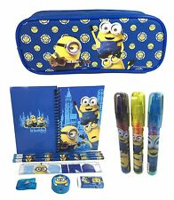 "New Minions ""Le Buddies""  School Pencil Pouch + Stationery + Eraser Set for Kids"