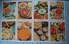 Lot of 8 Campbell Modern Meal Planning with Soup recipe sheets #1 2 3 4 5 6 7 8