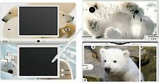 NDSi DSi - POLAR BEAR - 4 Piece - Sticker / Skin UK