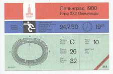 Orig.Ticket   Olympische Spiele MOSKAU 1980   Fussball    VENEZUELA - SAMBIA  !!