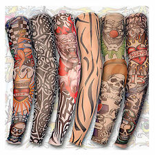 6 pcs  Hot Fashion Tatoo Sleeves temporary tattoos sleeves tattoo Arm Stockings