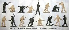 Marx reissue 54mm GI armymen toy soldiers mold shot 16pc    green or tan    B