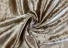 """Gold Poly Velour Velvet Fabric Upholstery Drapery Material Sold by the Yard 54""""W"""