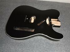 NEW - Fender Tele Body, Alder, White Binding - JET BLACK, #TBF-BKB