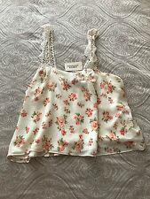 NWT Forever 21 size medium pretty bohemian floral double lined top