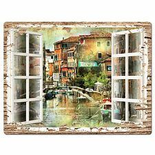 PP0604 French Window Scenery Chic Sign Shop Store Cafe Home Room Kitchen Decor
