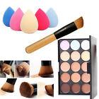 Mac Lidschatten x15 Warm Neutral Palette + Sponge Puff + Puderpinsel Kosmetik