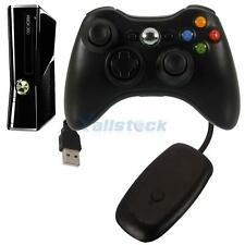 2.4G Black Wireless Remote Controller + Receiver for Microsoft Xbox 360 Console
