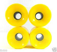 60mm x 44mm Cruiser Wheels Fit Longboard Plastic Board Skateboard Yellow